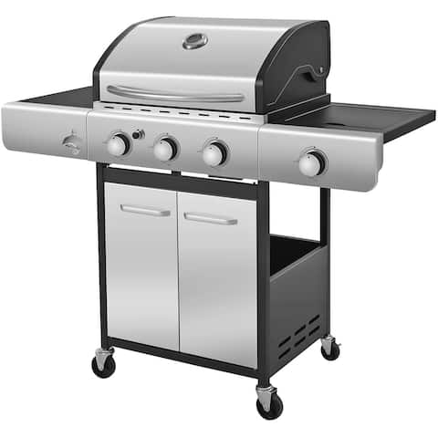 Propane Gas Grill with 3-Burner,Temperature Display - N/A