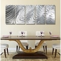 Statements2000 Silver Large Metal Wall Art Sculpture Panels by Jon Allen - Hypnotic Sands 5P - Thumbnail 5