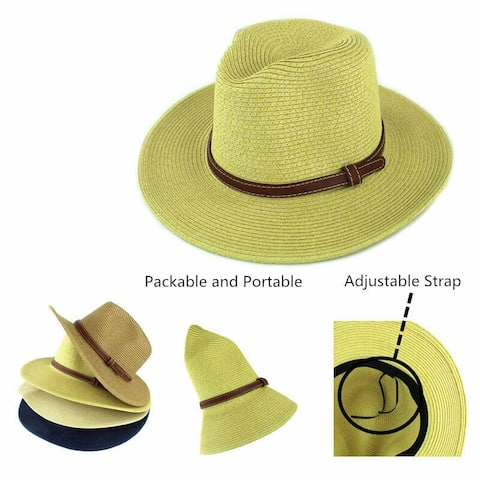 cc2cdb8a20b2c5 Panama Straw Hat, Made Indiana Jones Style, Sun Hats Summer Wide Brim