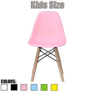 2xhome - Kids Size - Eames Style Side Chair - Natural Wooden Legs - High Quality Childrens Chair - Kids Armless Chair