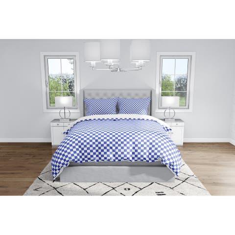 CHECKER BOARD BLUE Duvet Cover By Kavka Designs