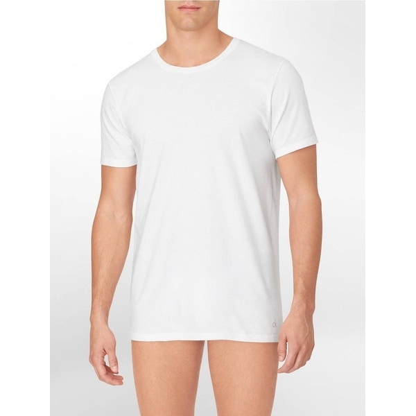 7d72db0e Calvin Klein Men's 3-Pack Cotton Classic Short Sleeve Crew Neck. Click  to Zoom