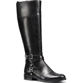 MICHAEL Michael Kors Womens Preston Riding Boots Leather