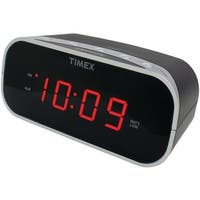 "Timex T121B Alarm Clock With .7"" Red Display (Black)"