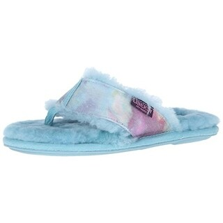 Bedroom Athletics Womens Annabell Canvas Tie-Dye Thong Slippers
