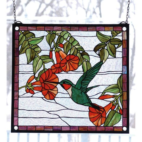 Meyda Tiffany 81540 Stained Glass Tiffany Window from the Birds Collection