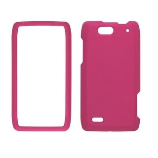 Ventev Soft Touch Snap-On Case for Motorola Droid 4 XT894 - Plum Pink