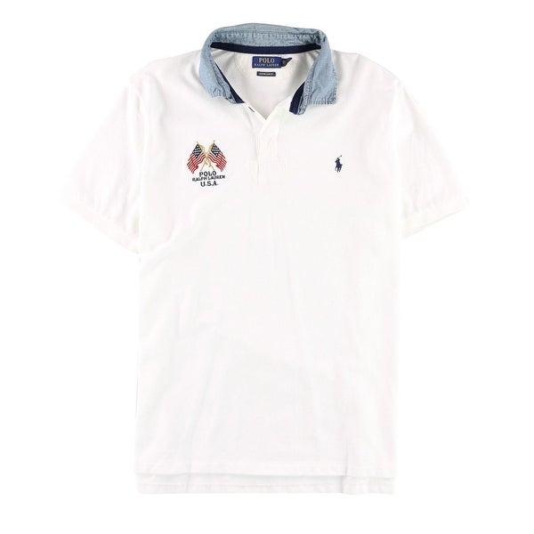 cc0b5a5f Shop Polo Ralph Lauren NEW White Men XL Custom Slim Polo Rugby Shirt - Free  Shipping Today - Overstock.com - 21586859