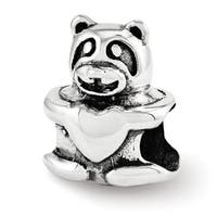Sterling Silver Reflections Teddy Bear Bead (4mm Diameter Hole)