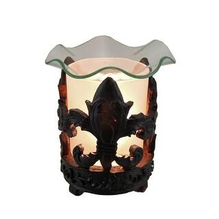 Black Fleur De Lis Decorative Table Top Oil/Tart Warmer