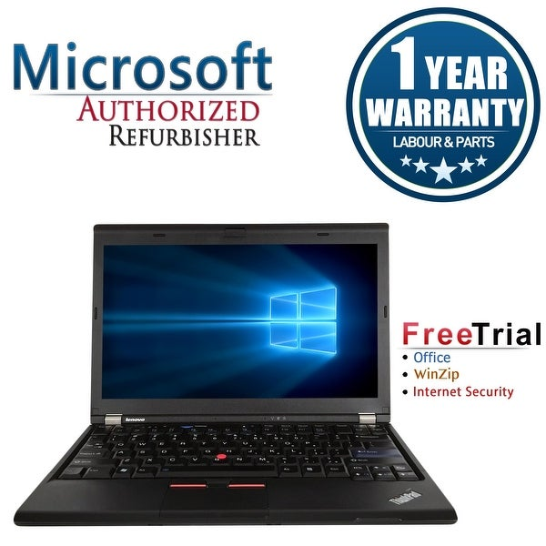 "Refurbished Lenovo ThinkPad X230 12.5"" Intel Core i5-3320M 2.6GHz 4GB DDR3 120GB SSD Win 10 Pro 64 (1 Year Warranty) - Black"