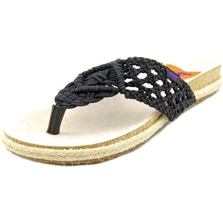 Rocket Dog FairyTale Women Open Toe Canvas Black Thong Sandal