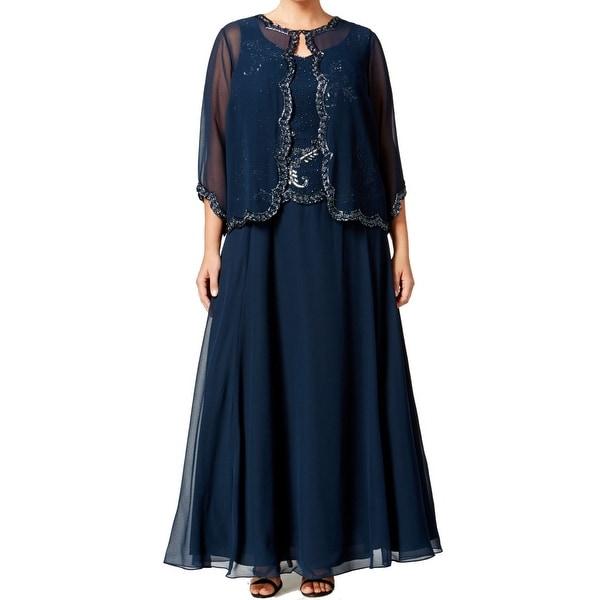 Shop J Kara NEW Blue Navy Women\'s Size 22W Plus Ball Gown Jacket Set ...