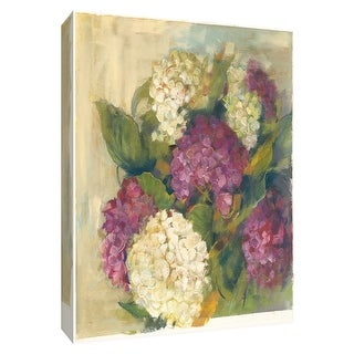 """PTM Images 9-154175  PTM Canvas Collection 10"""" x 8"""" - """"Hydrangea Delight I"""" Giclee Hydrangeas Art Print on Canvas"""