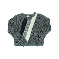 Shae Womens Pullover Sweater Textured Striped