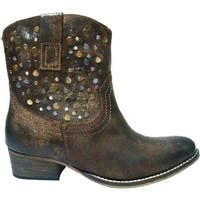Diba True Women's Flying Solo Bootie Chocolate Leather