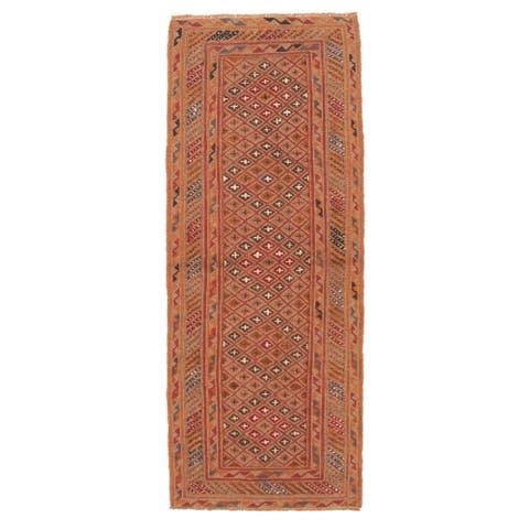 ECARPETGALLERY Hand-knotted Tajik Caucasian Tan Wool Rug - 2'4 x 6'1