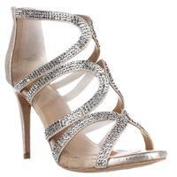 TS35 Fabiaa Mesh Dress Sandals, Champagne
