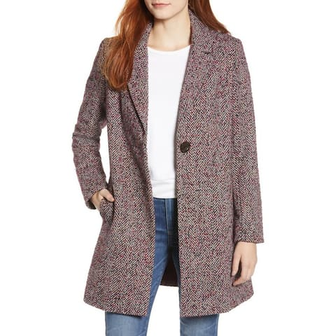 Sam Edelman Reefer Jacket, Purple Tweed, 4