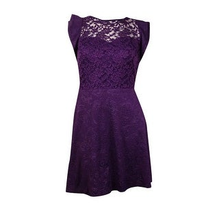 Love Squared Women's Embossed Lace Sweetheart Dress - 1x