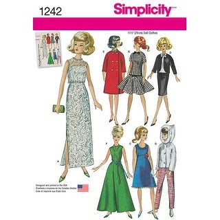 Simplicity Doll Clothes-One Size