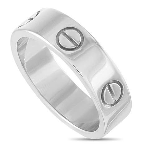Cartier LOVE White Gold Ring Size 5.5