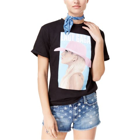 Lady Gaga Womens Boyfriend Graphic T-Shirt
