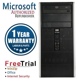 Refurbished HP Compaq DC5750 Tower AMD 3500+ 2.2G 2G DDR2 80G DVD WIN7 Home Premium 32 1 Year Warranty - Silver
