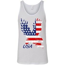 Men's Tank Top USA Flag American Bald Eagle Stars & Stripes Old Glory Patriotic