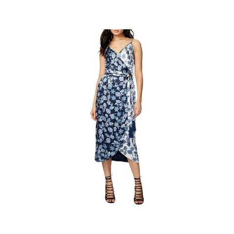 Rachel Rachel Roy Womens Slip Dress Floral Print Adjustable Straps