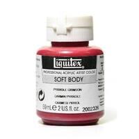 2 oz Soft Body Professional Acrylic Paint Color Jar - Pyrrole