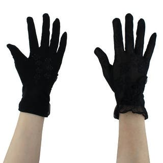 Adult Lady Outdoor Driving Flower Decor Thin Sun Resistant Gloves Black Pair|https://ak1.ostkcdn.com/images/products/is/images/direct/fb861d07794ec309cef7718f76f2f3908d16a392/Adult-Lady-Outdoor-Driving-Flower-Decor-Thin-Sun-Resistant-Gloves-Black-Pair.jpg?impolicy=medium