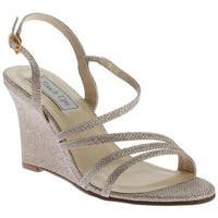 Touch Ups Women's Phyllis Wedge Sandal Champagne Shimmer