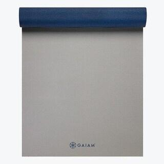 GAIAM Premium 2-Color Yoga Mats (5MM) Icy Frost - Blue