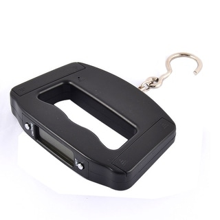 Awesome Unique Bargains Metal Hook Plastic LCD Display 50Kg 110lb Weighter Digital  Hanging Scale Black