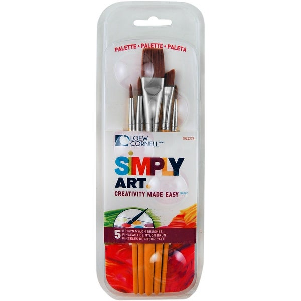 Simply Art Paintbrush & Palette Pack 5/Pkg-