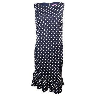 Betsey Johnson Women's Polka Dot Ruffle Shift Dress