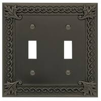 Atlas Homewares VDT Venetian Double Toggle Switch Plate - N/A