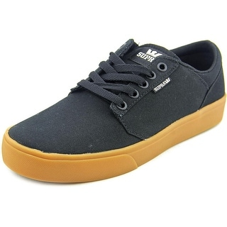 Supra Stacks Vulc II Youth Round Toe Canvas Black Sneakers
