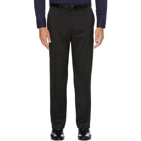Perry Ellis Portfolio Mens Dress Pants Flat Front Easy Care - Black - 44/30