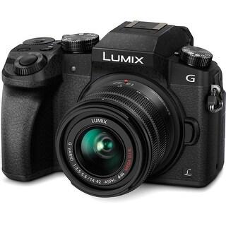 Panasonic Lumix DMC-G7 Mirrorless Micro Four Thirds Digital Camera with 14-42mm Lens (Black) (International Model)