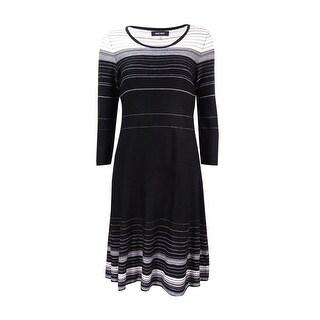 Nine West Women's Striped A-Line Sweater Dress (Option: Xs)