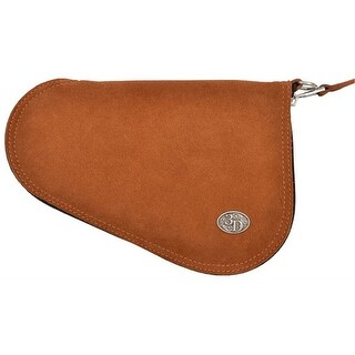 3D Western Pistol Case Leather Padded Roughout S Brown