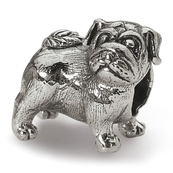 Sterling Silver Reflections Pug Bead (4mm Diameter Hole)