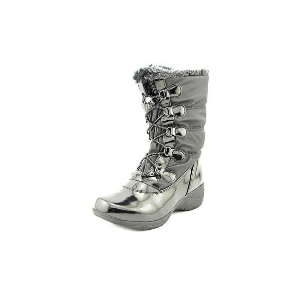 Khombu Suzi Women Round Toe Synthetic Black Winter Boot