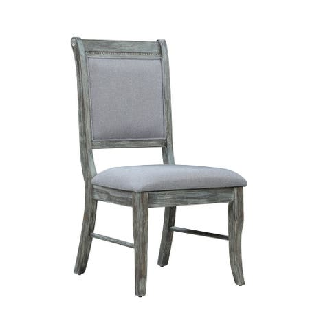 Carrington Grey and Weathered Ash Padded Side Chairs (Set of 2)