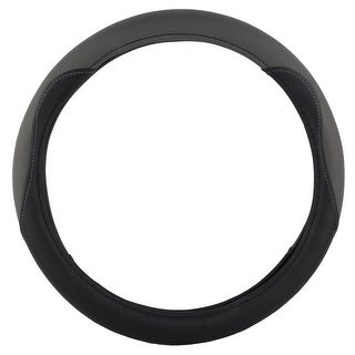 KM World Gray 14.5-15 Inch PU Leather Steering Wheel Cover With Precise Hand Placements, Fits Nissan Altima