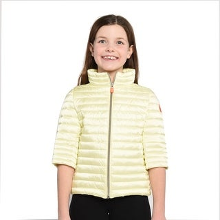 Save The Duck Lightweight Girls Bomber In Yellow - 8