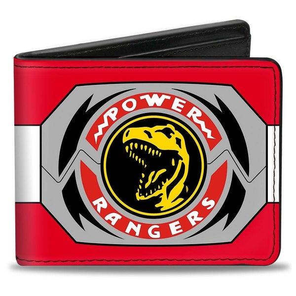 Power Rangers Red Ranger Tyrannosaurus Rex Morpher Bi Fold Wallet - One Size Fits most