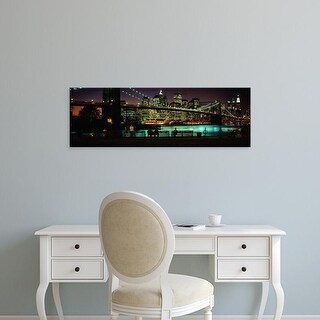Easy Art Prints Panoramic Images's 'Brooklyn Bridge, East River, Manhattan, New York City, New York State' Canvas Art